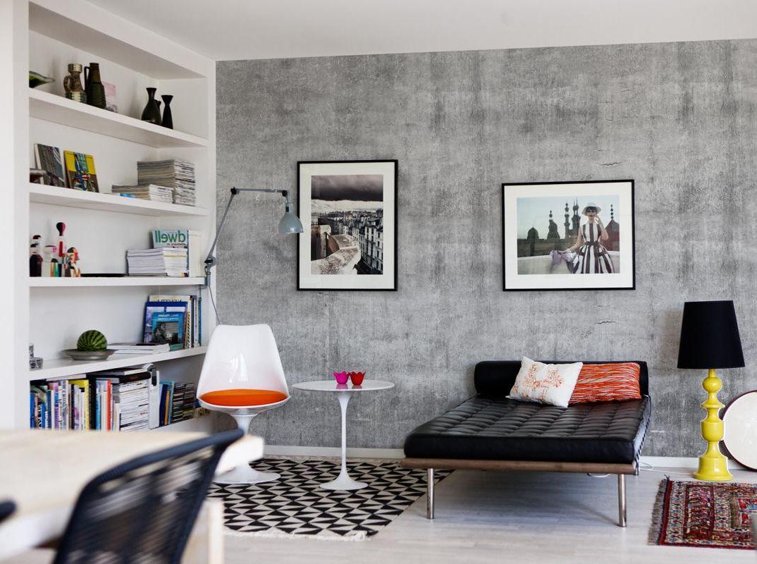 Бетон в интерьерах квартиры