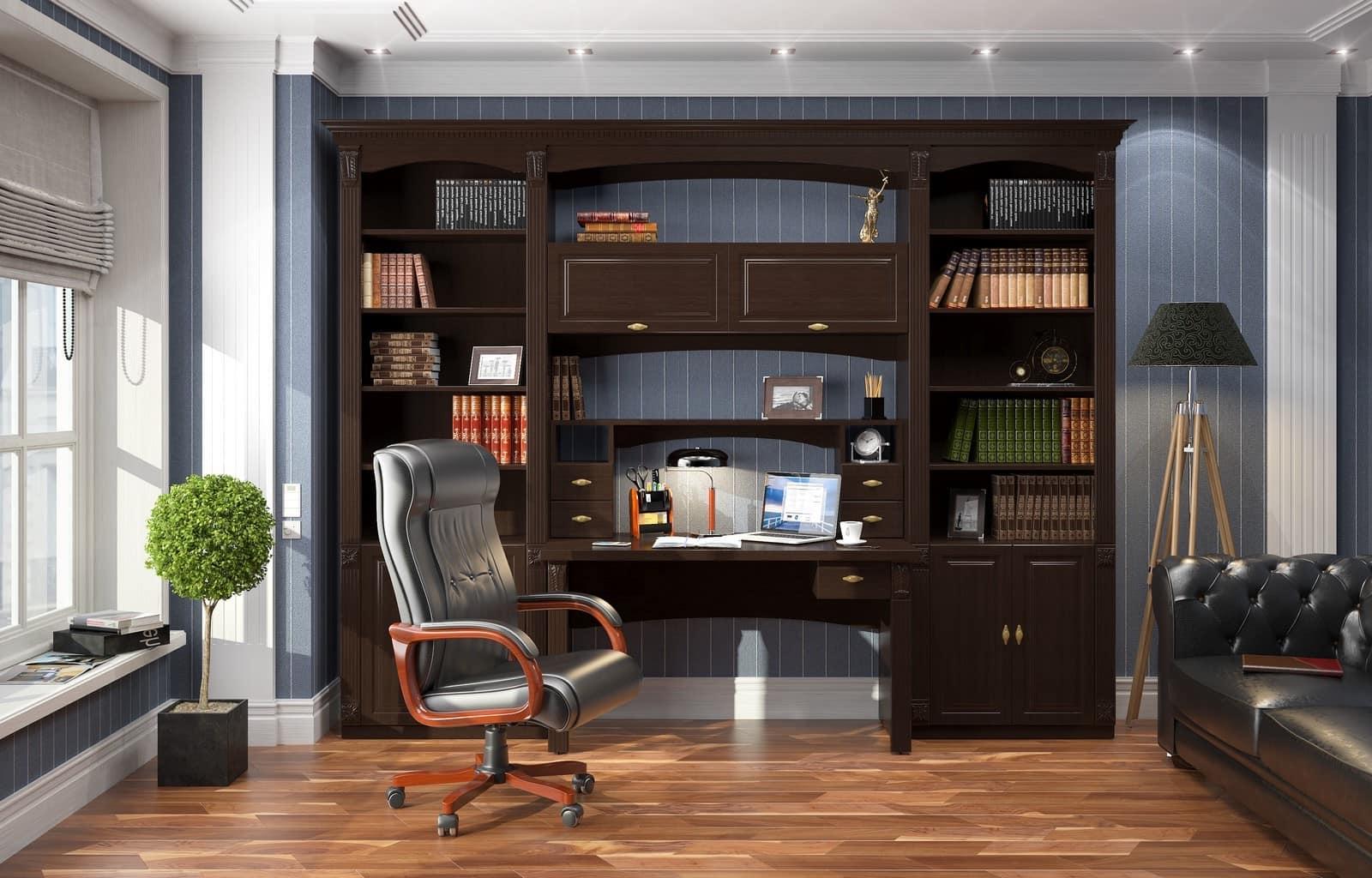Кабинет в доме – интерьер и планировка
