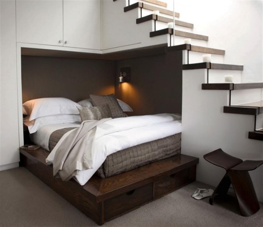 Кровати и спальни, экономящие пространство