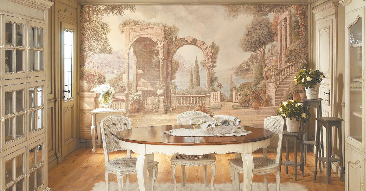Настенная живопись в интерьере – современном и классическом