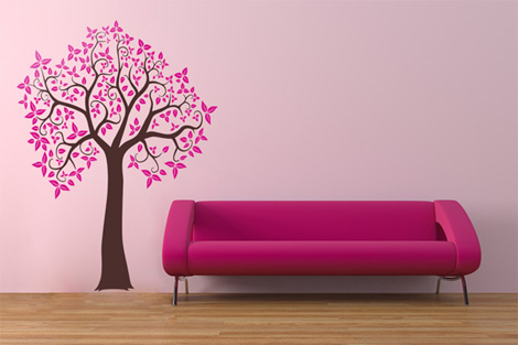 Смотрим на мир сквозь розовые очки! Наклейки для дома и настроения.
