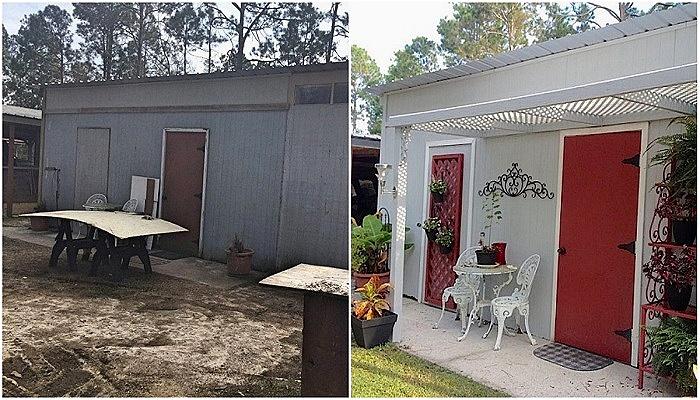 Супруги превратили заброшенный сарай в загородный дом всего за 500 дол