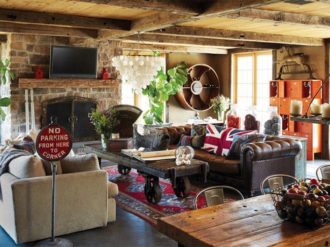 Старомодная винтажная мебель и интерьер