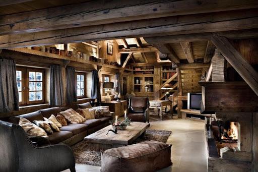 Современные интерьеры и мебель в загородном стиле