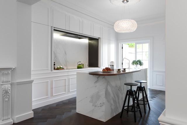 Создайте креативный дизайн кухни с 7 панелями из гранитных плит