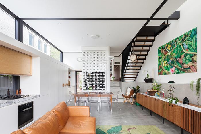 Современный стиль в интерьере.  Фото: daybukharchitects.com.au.