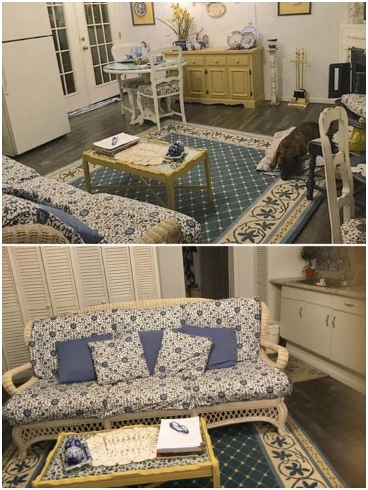Обновленный домик был создан с открытой планировкой, в нем гостиная-столовая объединена с кухней. | Фото: humoras.net/ © Debbi W.