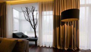 Современные дома: разные стили штор